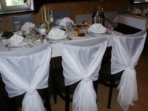 Получехлы на стулья для свадьбы